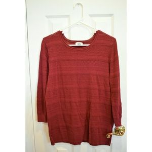 Old Navy cranberry / burgundy lightweight sweater